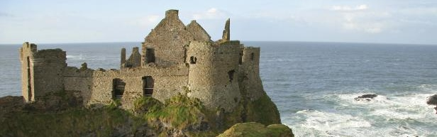 An Irish castle overlooking the ocean