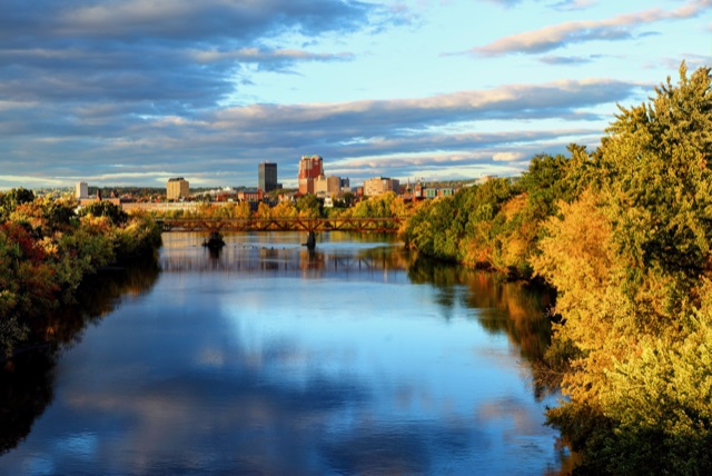 Manchester, NH seen from a distance