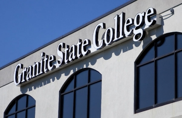 Close up of Granite State College in Concord, NH
